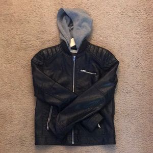 Boys faux leather fashion jacket